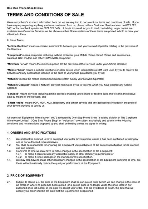 invoice payment terms  conditions invoice template