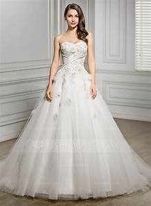 ball gown sweetheart chapel train tulle wedding dress with With wedding dresses com