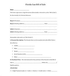 Sle Bill Of Sale Florida by 10 Sle Bill Of Sale For Firearms Sle Forms
