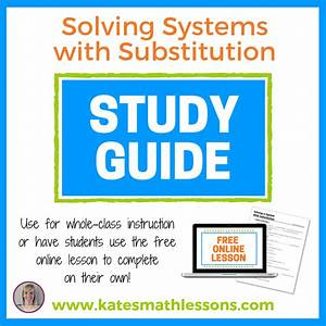 Solve A System Of Equations Using Substitution