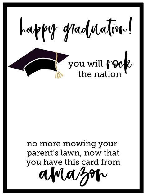 printable graduation card paper trail design