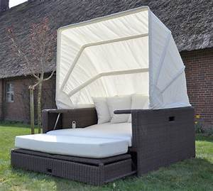 beach lounge garten polyrattan liege sonneninsel With französischer balkon mit sofa liege garten