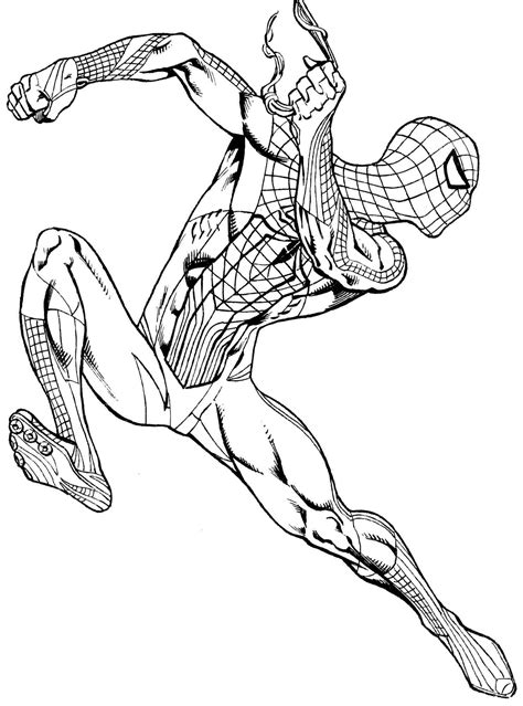 spiderman coloring pages    clipartmag