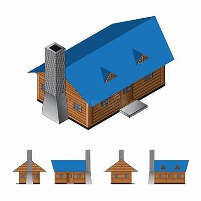 Cabin Isometric Isometrisch Cabina Blockhaus Drawing Isometrica