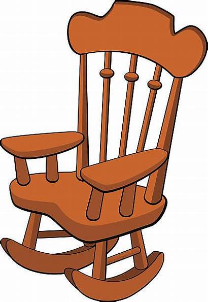 Rocking Chair Clip Clipart Vector Illustrations Easy