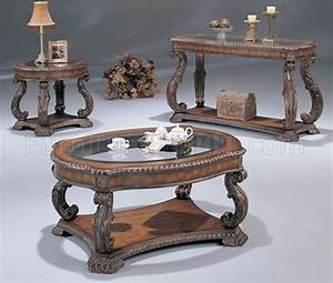 antique cherry traditional coffee table with glass inlays With traditional glass coffee tables