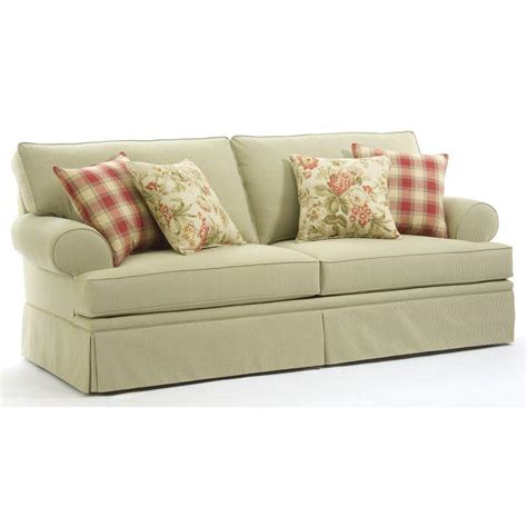 broyhill furniture emily casual style sofa with rolled