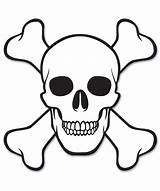 Skull Coloring Pages Crossbones Pirate Easy Drawings Printable Uniquecoloringpages sketch template