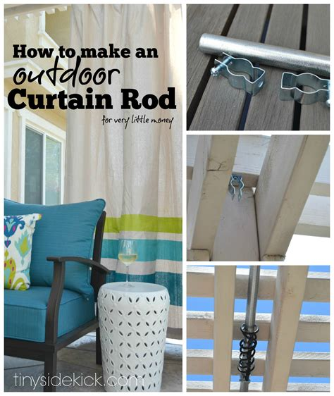 how to make an outdoor curtain rod for money