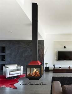 Cheminée Contemporaine Foyer Fermé : cheminee suspendue a foyer ferme ~ Melissatoandfro.com Idées de Décoration