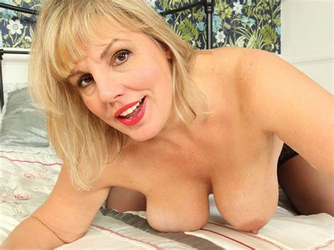 british milf danielle wears her sexy lingerie for a