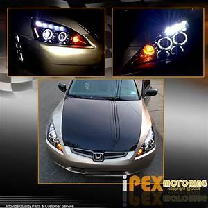 2004 Honda Accord Headlight Wiring : 2003 2004 2005 honda accord 2dr halo projector black led ~ A.2002-acura-tl-radio.info Haus und Dekorationen