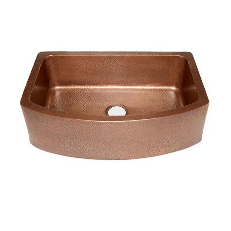 Copper Apron Front Sink Home Depot by Sinkology Ernst Farmhouse Apron Front Handmade Copper 33