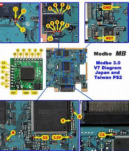 Scph-39001 Ps2 Modbo 5 0 Modchip Installation  V7 Ntsc Board
