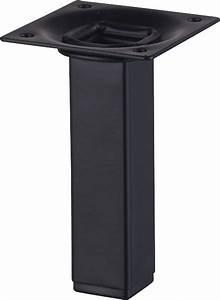 Pied De Table Metal Carré : pied acier carre h 10 cm noir bricoman ~ Teatrodelosmanantiales.com Idées de Décoration