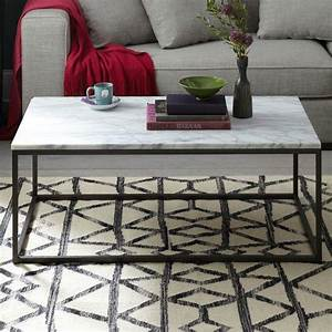 box frame coffee table marble west elm With west elm marble top coffee table