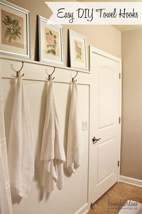 creative ideas for bathroom easy diy towel hooks honeybear