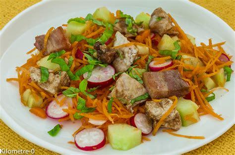 cuisine carotte salade de carottes radis concombre et dinde cuisine de