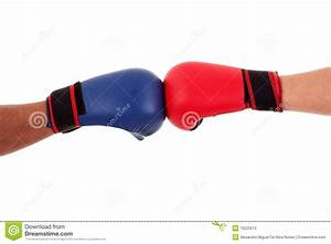 Two Boxers Touch Gloves Ready To Start Fight Stock Photos ...