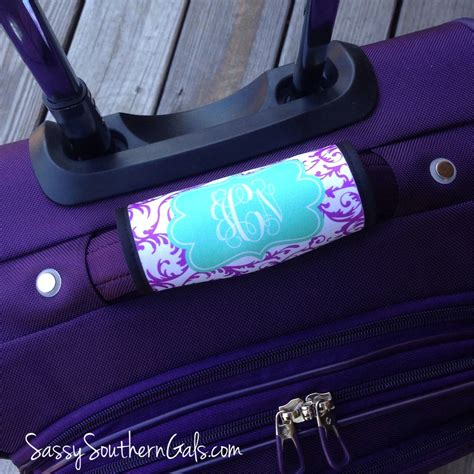 personalized luggage tag monogrammed luggage tag sassy