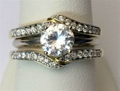solitaire enhancer diamonds ring guard jacket wrap 14k yellow gold wedding band ebay