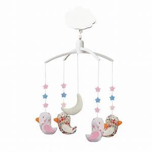 Mobile Musical Rose : mobile musical oiseaux rose bambins d co ~ Teatrodelosmanantiales.com Idées de Décoration