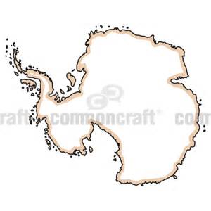 Antarctica Continent Cut Out