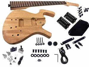 Solo Fy Style Diy Guitar Kit  Basswood Body  Black Hdware