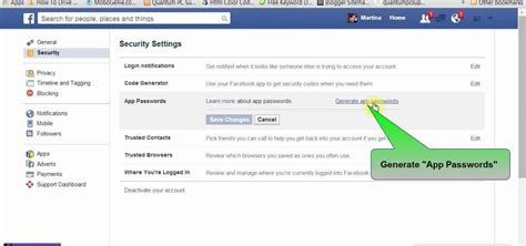 Facebook Generated Temporary Password To Login App Or