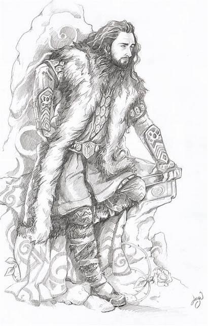 Hobbit Thorin Oakenshield Coloring Pages Dwarves Fanart