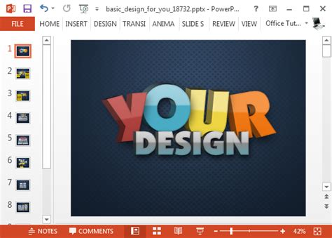 animated business promotion powerpoint template