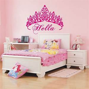 free shipping personalized name custom cute crown princess With amazing room decor ideas with crown decals for walls