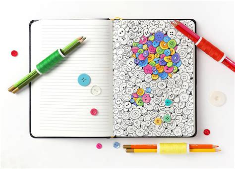 coloring notebook combines  joys  adult coloring
