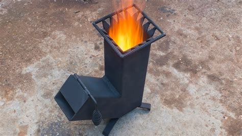 homemade wood burning rocket stove youtube