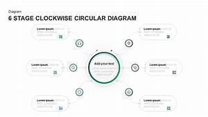 6 Steps Clockwise Circular Diagram Template For Powerpoint  U0026 Keynote
