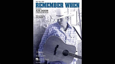 Alan Jackson - Remember When (Reggae version) - YouTube