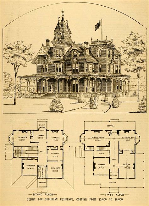 architecture house plans 1879 print house architectural design floor