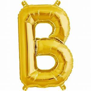 letter b foil balloon small foil balloons shindigscomau With small gold letter balloons