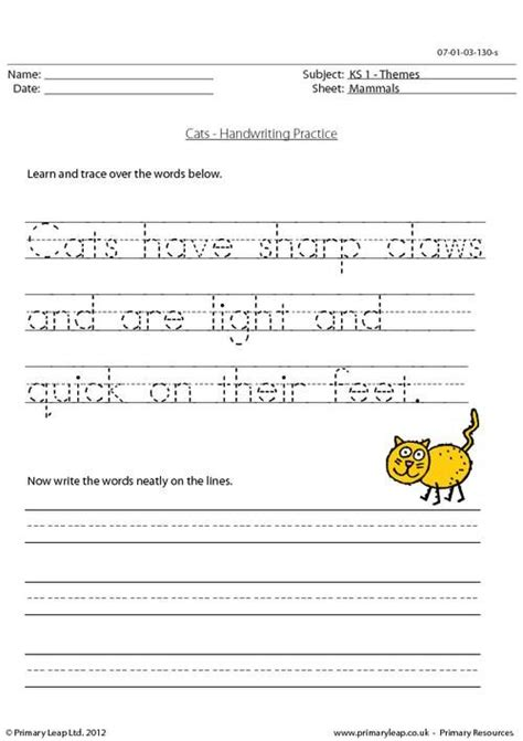 handwriting practice worksheets and primary ian