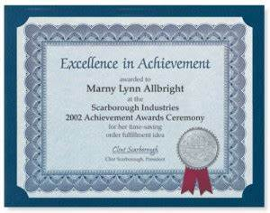 Recognition Certificate Wording Make Your Own Award Certificates Paperdirect Blog