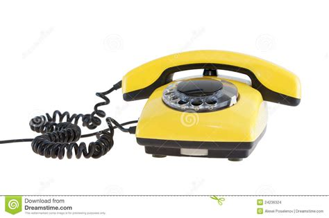 old yellow old yellow telephone stock images image 24236324