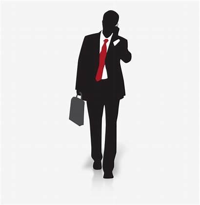 Silhouette Businessman Loan Money Walking Clr Hard