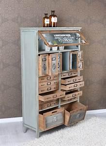 Vintage Industrial Möbel : vintage kommode loft m bel apothekerschrank industrial schrank hochkommode antik 4250399946380 ~ Markanthonyermac.com Haus und Dekorationen