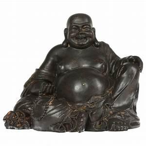 Statue Bouddha Interieur : statuette 19cm bouddha rieur noir ~ Teatrodelosmanantiales.com Idées de Décoration
