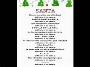 santa christmas rhymes youtube
