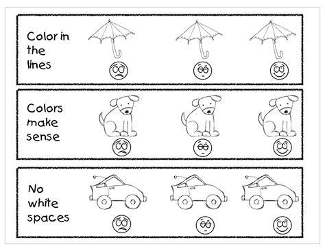 Coloring Rubric by Pre K Rubric Kindergarten Owls Coloring