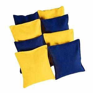 Cornhole, Bean, Bags, Replacement, -, 4, Yellow, U0026, 4, Navy, Blue, 8, Bags