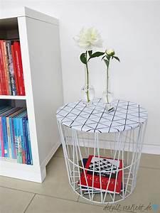 Drahtkorb Tisch Weiß : tisch umstyling diy und gutschein giveaway f r klebefolien detail ~ Yasmunasinghe.com Haus und Dekorationen