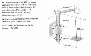 Solved  Under The Action Of The 40 N Middot M Torque Appli
