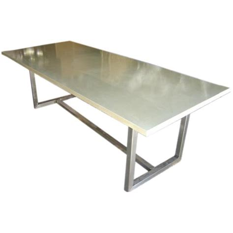 cement top dining table concrete top dining table with steel base at 1stdibs